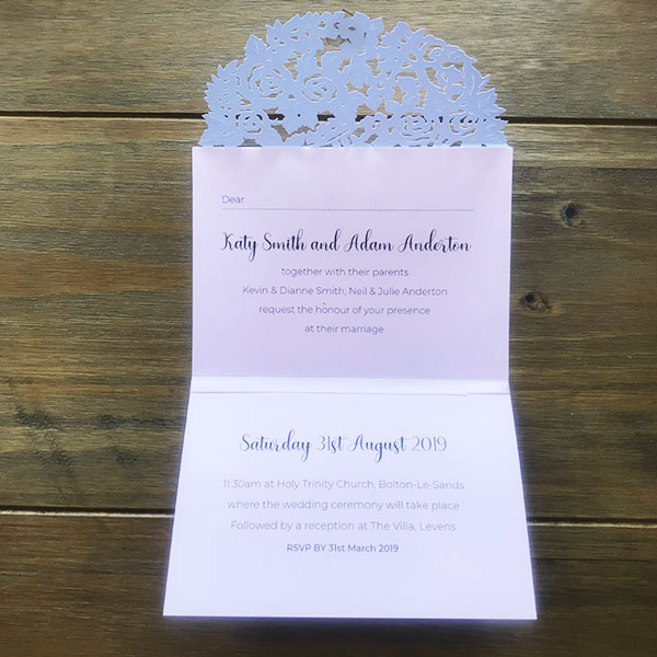 Wedding Stationery - Day Guest Invitations
